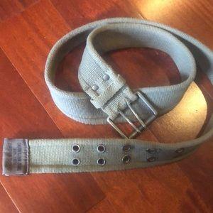Men's Army green Calvin Klein belt